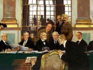 Unterzeichnung des Versailler Vertrags, 1919