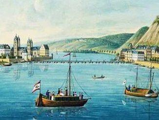 Koblenz, Ehrenbreitstein und Rhein, 1829