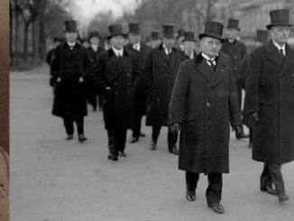 Kabinett Brüning, bei der Beerdigung von Hermann Müller, Hindenburg