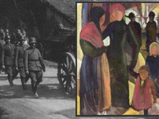 August Macke, Abschied, deutsche Soldaten in Frankreich