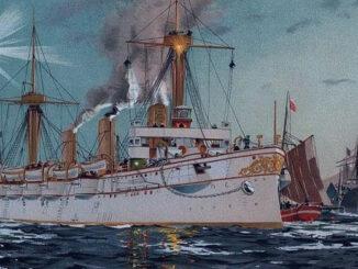 SMS Kaiserin Augusta in New York