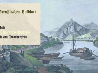 Kronprinz Friedrich WIlhelm, Siebengebirge von Rolandseck